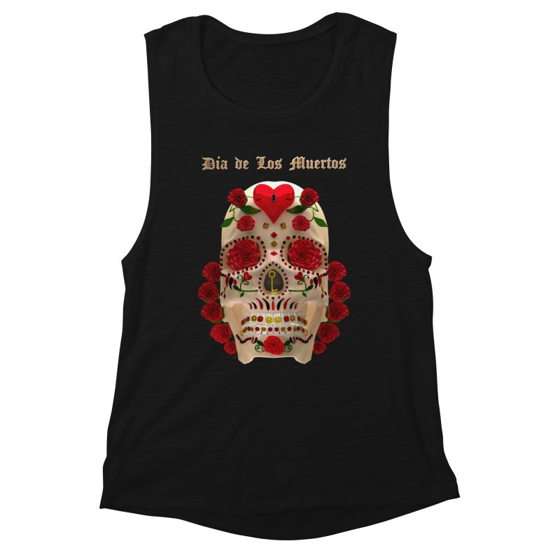 Dia De Los Muertos Key To Your Heart Women's Muscle Tank by Armando Padilla Artist Shop