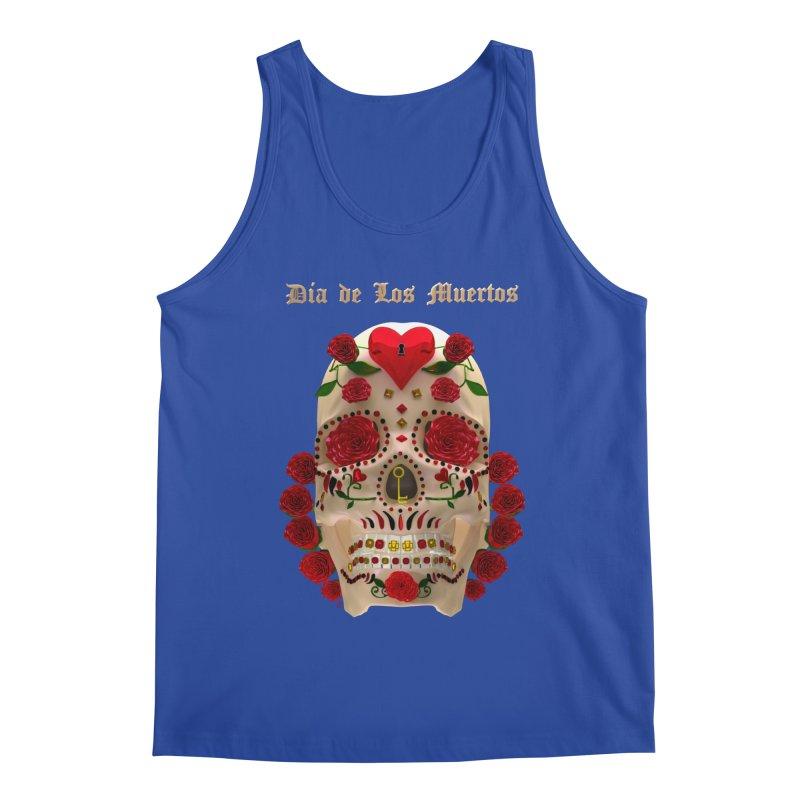 Dia De Los Muertos Key To Your Heart Men's Tank by Armando Padilla Artist Shop