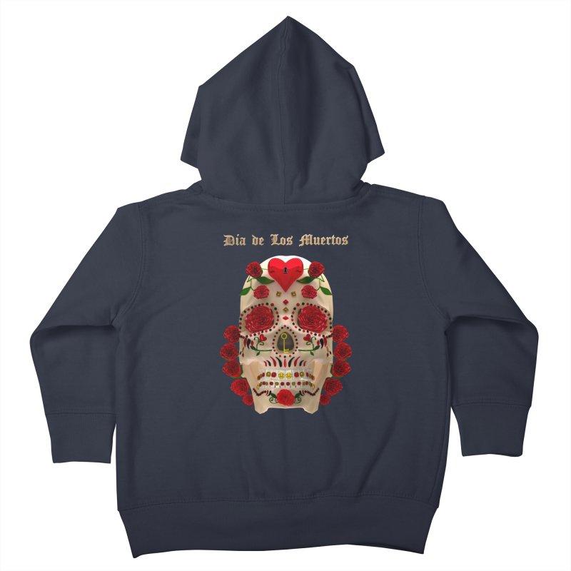 Dia De Los Muertos Key To Your Heart Kids Toddler Zip-Up Hoody by Armando Padilla Artist Shop