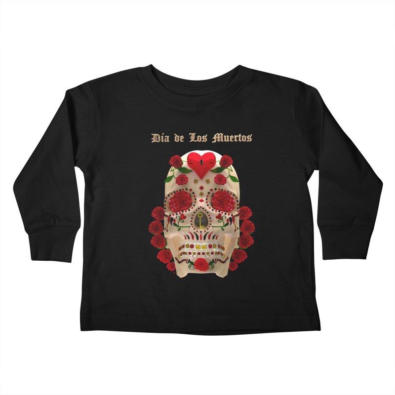 Dia De Los Muertos Key To Your Heart Kids Toddler Longsleeve T-Shirt by Armando Padilla Artist Shop
