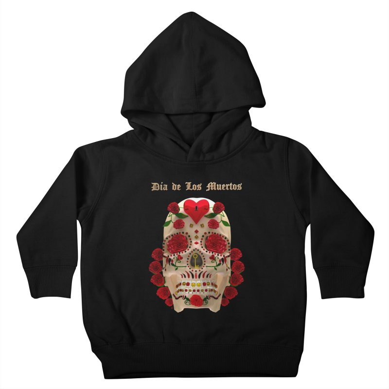 Dia De Los Muertos Key To Your Heart Kids Toddler Pullover Hoody by Armando Padilla Artist Shop