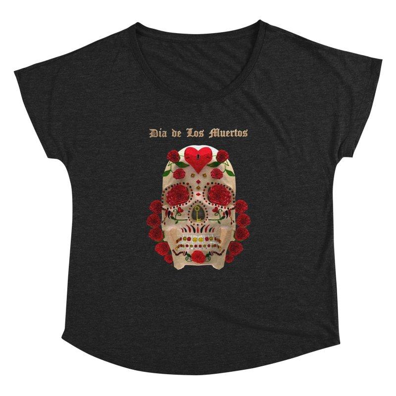 Dia De Los Muertos Key To Your Heart Women's Dolman Scoop Neck by Armando Padilla Artist Shop