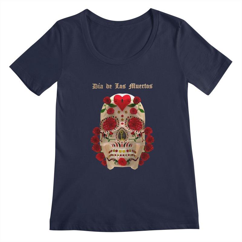 Dia De Los Muertos Key To Your Heart Women's Scoop Neck by Armando Padilla Artist Shop