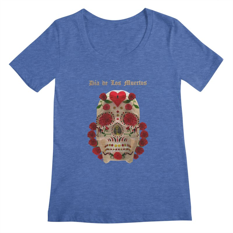 Dia De Los Muertos Key To Your Heart Women's Regular Scoop Neck by Armando Padilla Artist Shop