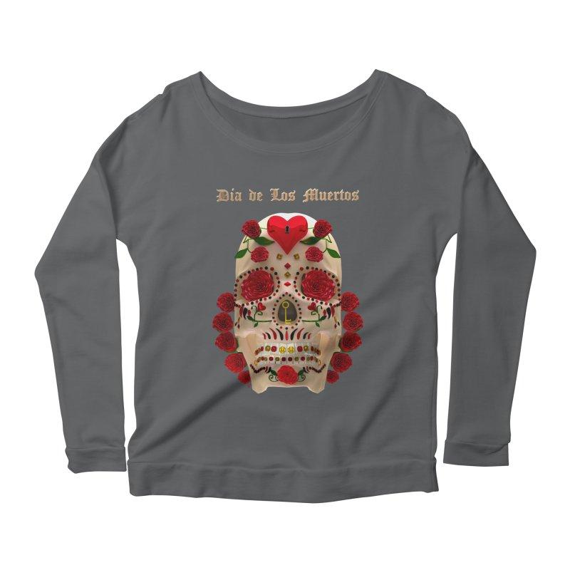 Dia De Los Muertos Key To Your Heart Women's Scoop Neck Longsleeve T-Shirt by Armando Padilla Artist Shop