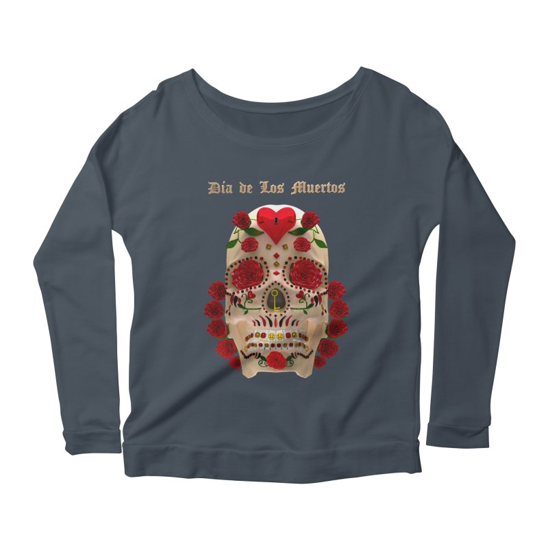 Dia De Los Muertos Key To Your Heart Women's Scoop Neck Longsleeve T-Shirt by Armando Padilla Artist Shop