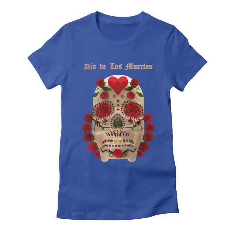 Dia De Los Muertos Key To Your Heart Women's Fitted T-Shirt by Armando Padilla Artist Shop