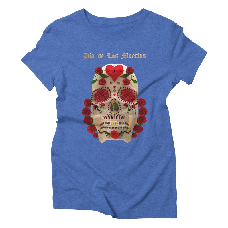 Dia De Los Muertos Key To Your Heart Women's Triblend T-Shirt by Armando Padilla Artist Shop