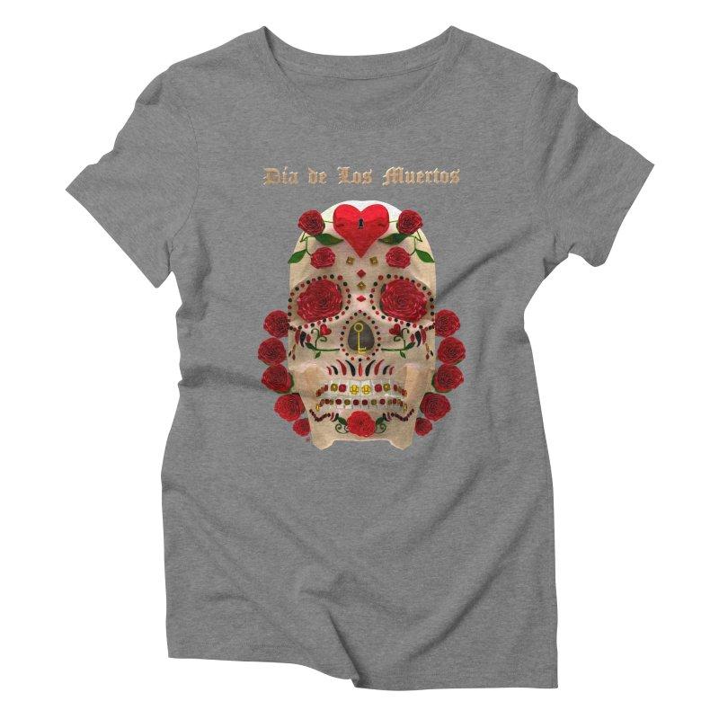 Dia De Los Muertos Key To Your Heart Women's Triblend T-Shirt by Armando Padilla Artist Shop