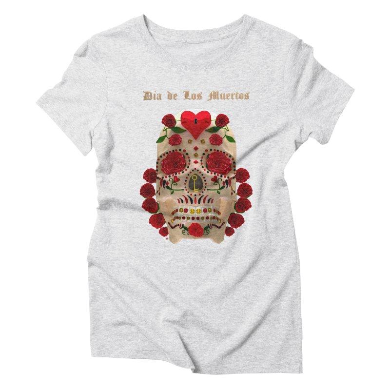 Dia De Los Muertos Key To Your Heart Women's T-Shirt by Armando Padilla Artist Shop