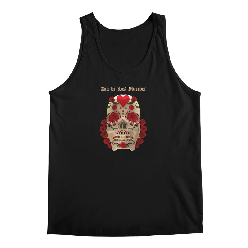 Dia De Los Muertos Key To Your Heart Men's Regular Tank by Armando Padilla Artist Shop