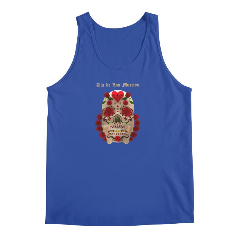 Dia De Los Muertos Key To Your Heart Men's Tank by Armando Padilla Artist Shop