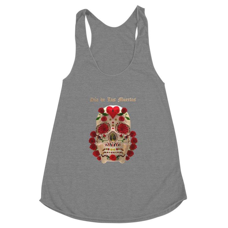 Dia De Los Muertos Key To Your Heart Women's Racerback Triblend Tank by Armando Padilla Artist Shop