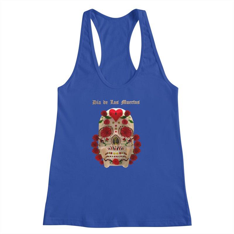Dia De Los Muertos Key To Your Heart Women's Racerback Tank by Armando Padilla Artist Shop