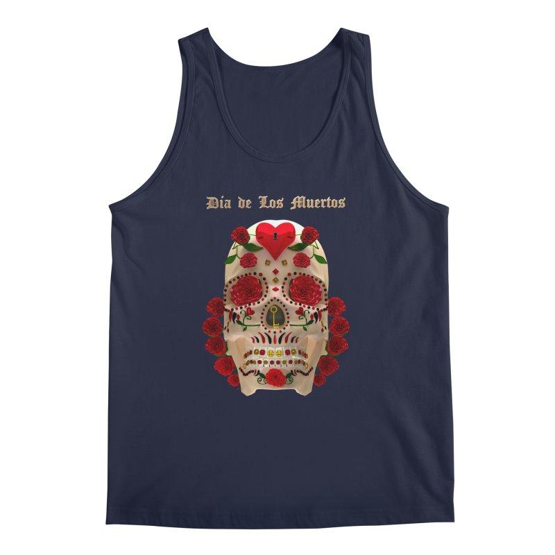 Dia De Los Muertos Key To Your Heart Men's Regular Tank by Armando Padilla Artist Shop