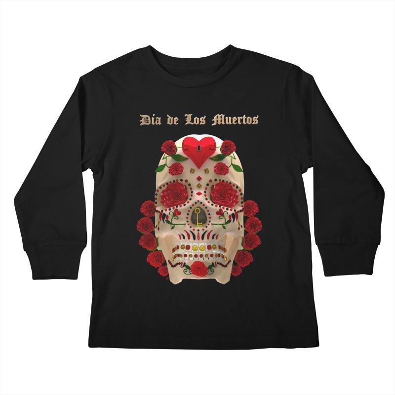Dia De Los Muertos Key To Your Heart Kids Longsleeve T-Shirt by Armando Padilla Artist Shop