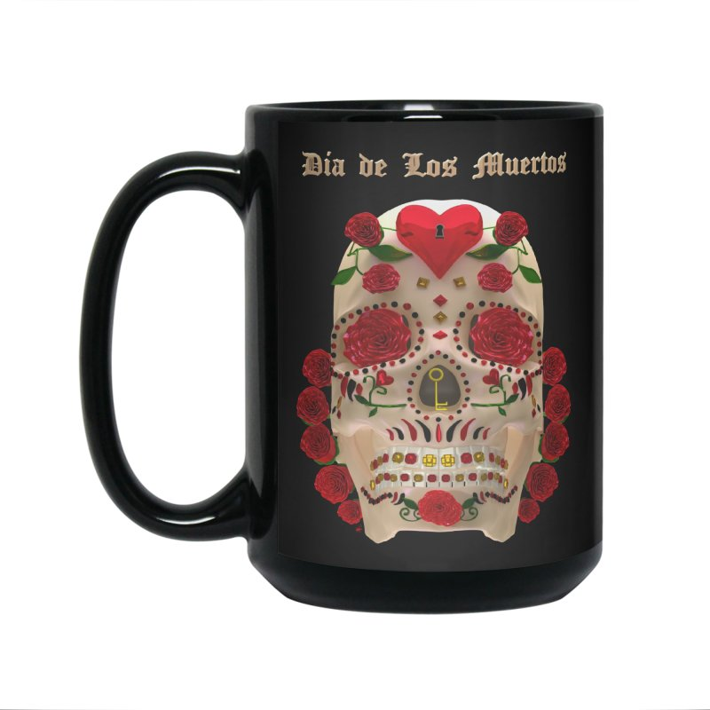Dia De Los Muertos Key To Your Heart Accessories Standard Mug by Armando Padilla Artist Shop
