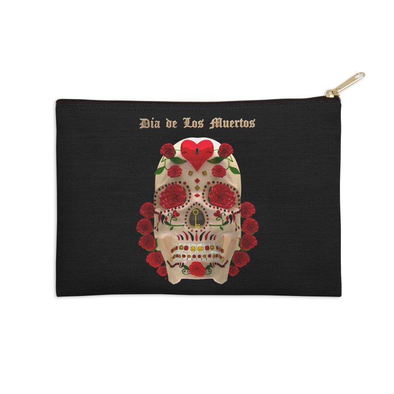 Dia De Los Muertos Key To Your Heart Accessories Zip Pouch by Armando Padilla Artist Shop