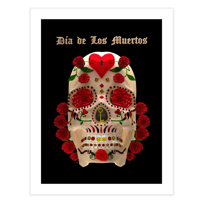 Dia De Los Muertos Key To Your Heart Home Fine Art Print by Armando Padilla Artist Shop