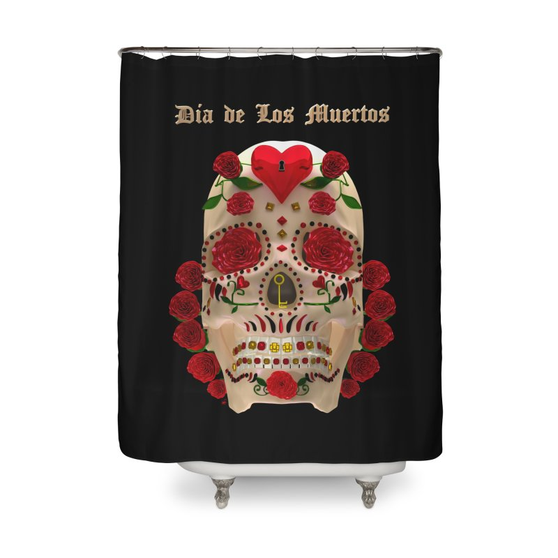 Dia De Los Muertos Key To Your Heart Home Shower Curtain by Armando Padilla Artist Shop