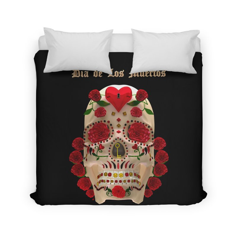 Dia De Los Muertos Key To Your Heart Home Duvet by Armando Padilla Artist Shop