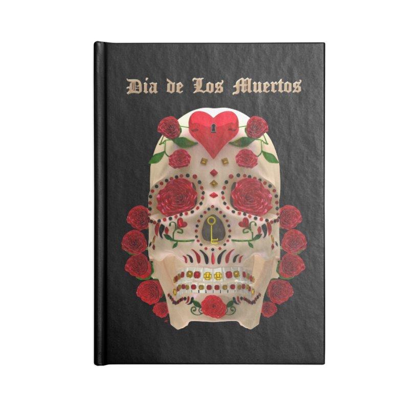 Dia De Los Muertos Key To Your Heart Accessories Lined Journal Notebook by Armando Padilla Artist Shop