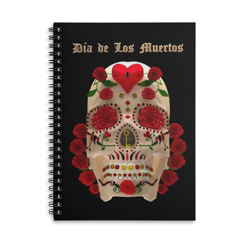 Dia De Los Muertos Key To Your Heart Accessories Lined Spiral Notebook by Armando Padilla Artist Shop