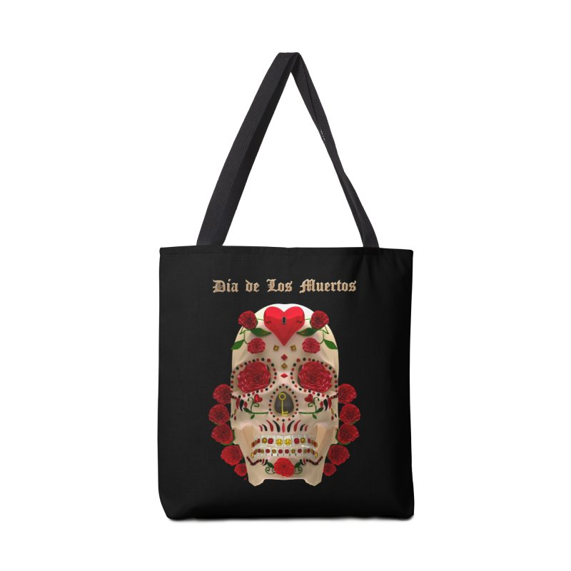 Dia De Los Muertos Key To Your Heart Accessories Bag by Armando Padilla Artist Shop