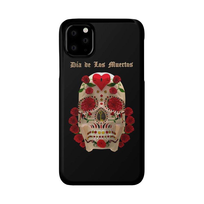 Dia De Los Muertos Key To Your Heart Accessories Phone Case by Armando Padilla Artist Shop