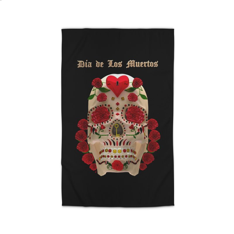 Dia De Los Muertos Key To Your Heart Home Rug by Armando Padilla Artist Shop