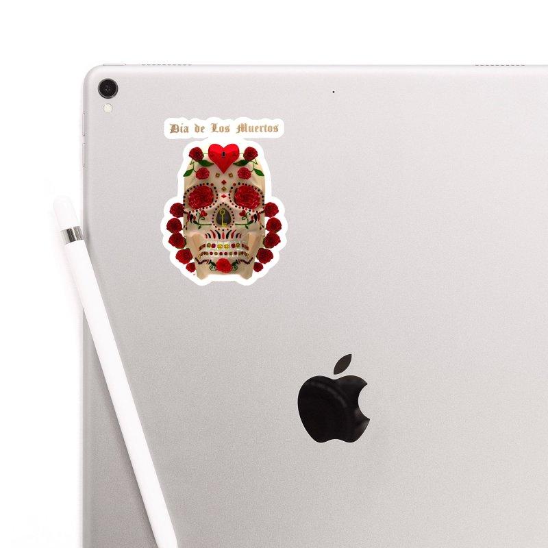 Dia De Los Muertos Key To Your Heart Accessories Sticker by Armando Padilla Artist Shop
