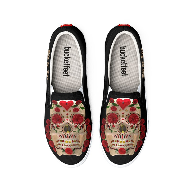 Dia De Los Muertos Key To Your Heart Women's Shoes by Armando Padilla Artist Shop