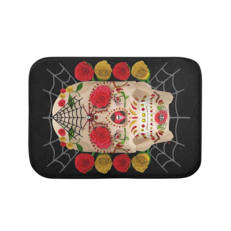 Dia De Los Muertos - Family Home Bath Mat by Armando Padilla Artist Shop