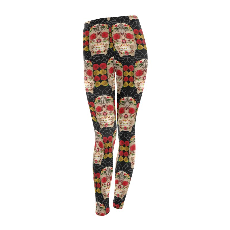 Dia De Los Muertos - Family Women's Leggings Bottoms by Armando Padilla Artist Shop