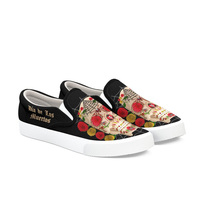 Dia De Los Muertos - Family Men's Shoes by Armando Padilla Artist Shop