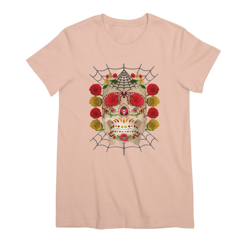 Dia De Los Muertos - Family Women's Premium T-Shirt by Armando Padilla Artist Shop