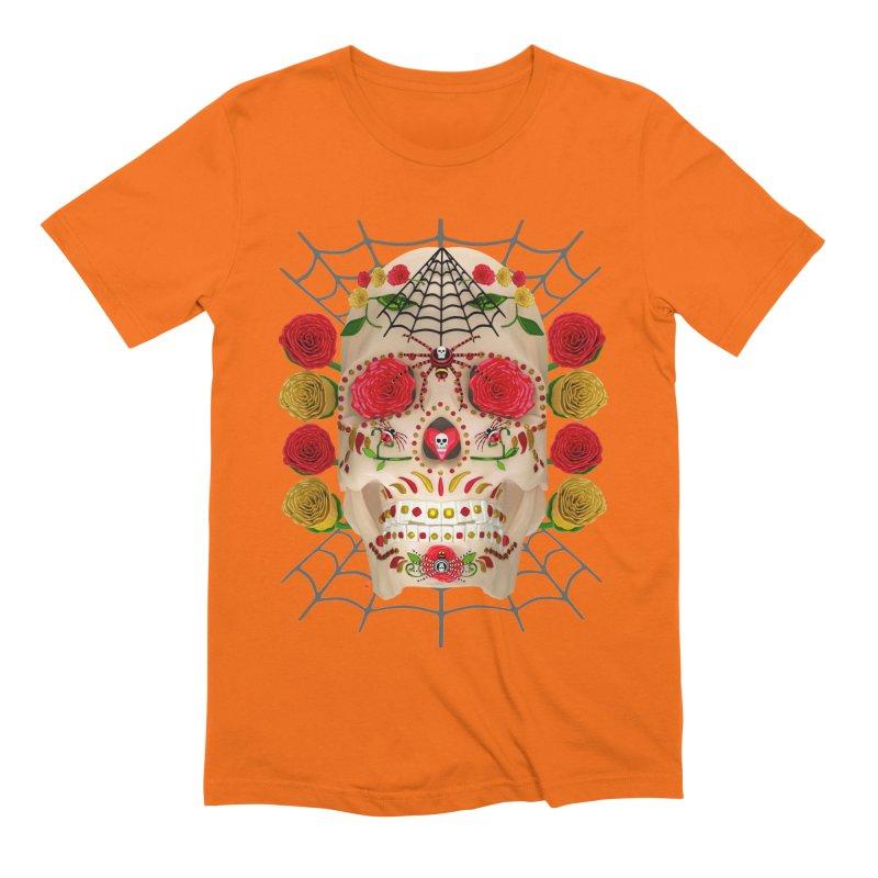 Dia De Los Muertos - Family Men's Extra Soft T-Shirt by Armando Padilla Artist Shop