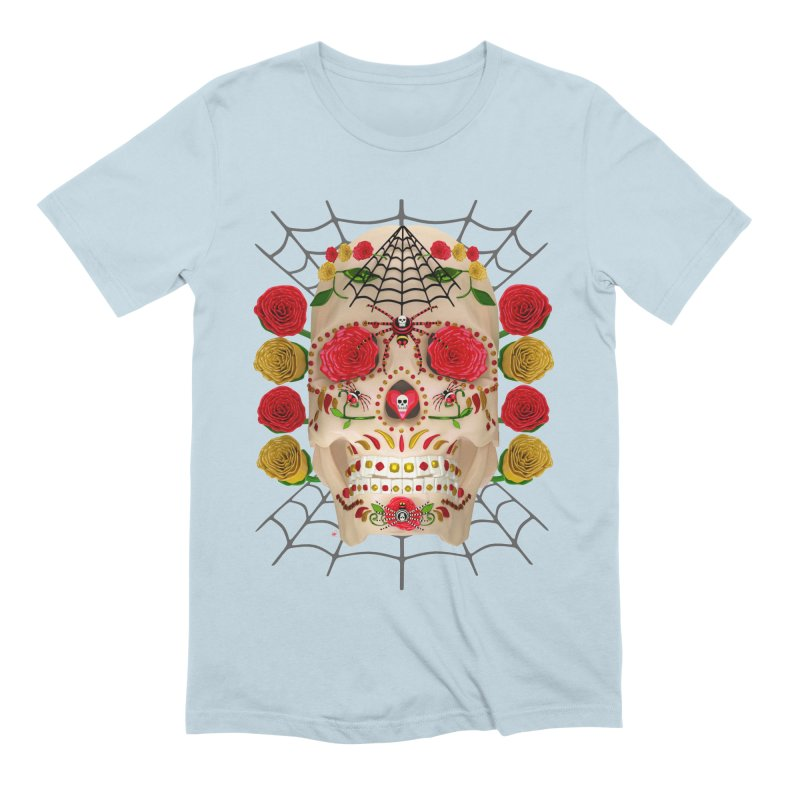 Dia De Los Muertos - Family Men's T-Shirt by Armando Padilla Artist Shop