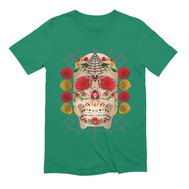 Dia De Los Muertos - Family Men's T-Shirt by Armando Padilla Artist Shop