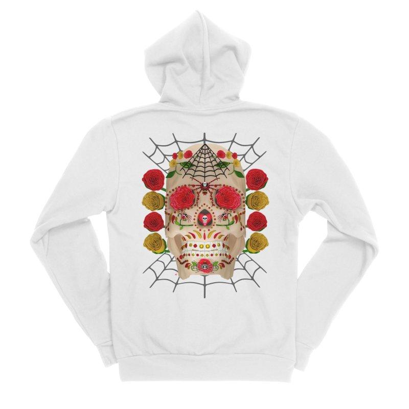 Dia De Los Muertos - Family Men's Sponge Fleece Zip-Up Hoody by Armando Padilla Artist Shop