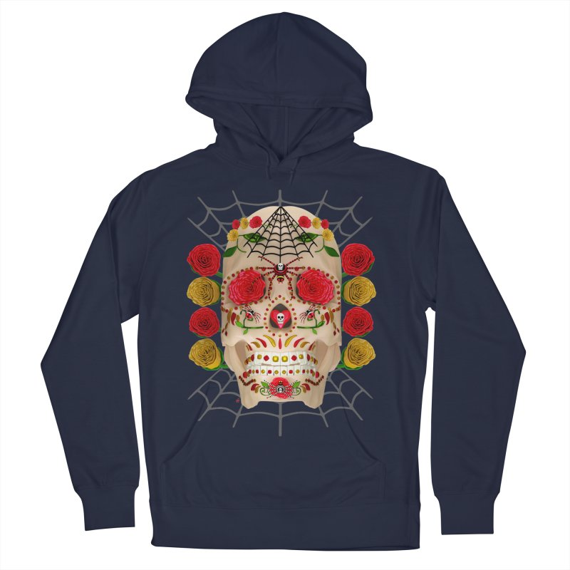 Dia De Los Muertos - Family Men's French Terry Pullover Hoody by Armando Padilla Artist Shop
