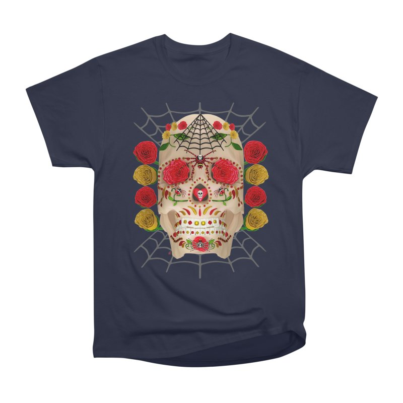Dia De Los Muertos - Family Women's Heavyweight Unisex T-Shirt by Armando Padilla Artist Shop