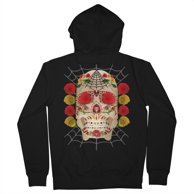 Dia De Los Muertos - Family Men's French Terry Zip-Up Hoody by Armando Padilla Artist Shop