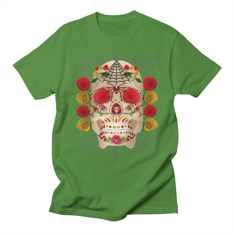 Dia De Los Muertos - Family Women's Regular Unisex T-Shirt by Armando Padilla Artist Shop