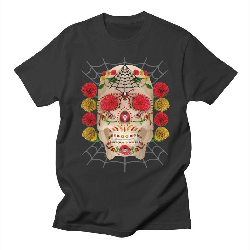 Dia De Los Muertos - Family Men's Regular T-Shirt by Armando Padilla Artist Shop