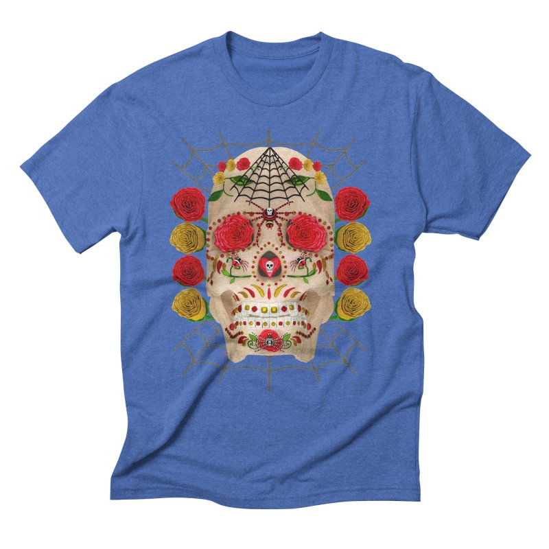 Dia De Los Muertos - Family Men's Triblend T-Shirt by Armando Padilla Artist Shop