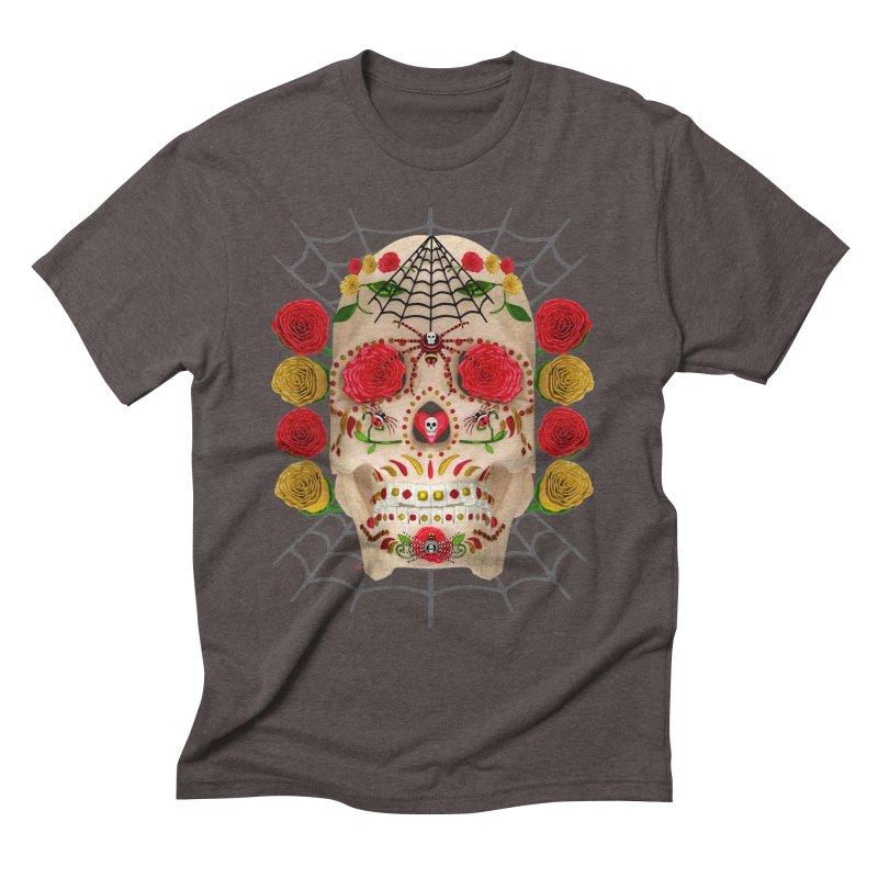 Dia De Los Muertos - Family Men's Triblend T-Shirt by Armando Padilla Artist Shop