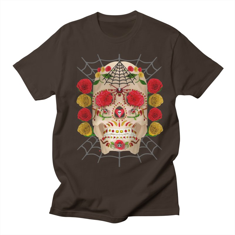 Dia De Los Muertos - Family Men's Regular T-Shirt by Armando Padilla Artist Shop