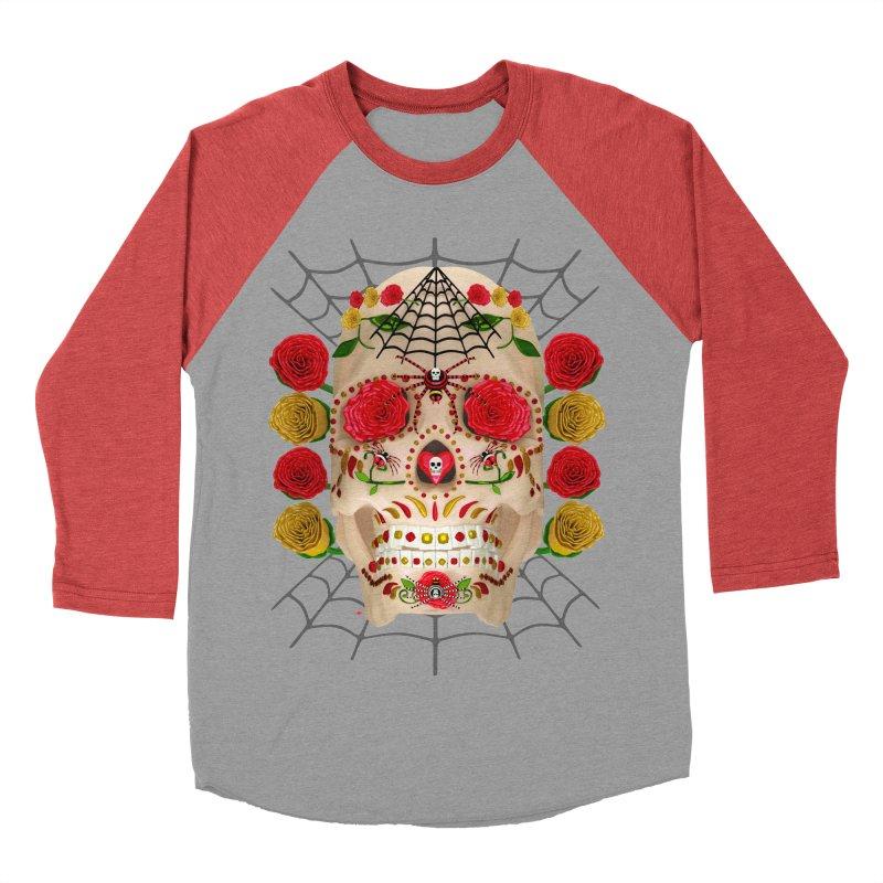 Dia De Los Muertos - Family Men's Baseball Triblend Longsleeve T-Shirt by Armando Padilla Artist Shop