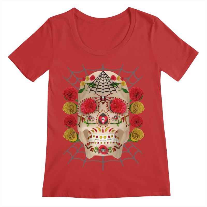 Dia De Los Muertos - Family Women's Regular Scoop Neck by Armando Padilla Artist Shop
